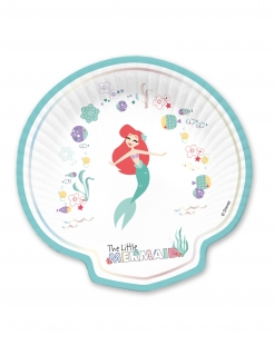 Arielle™ Pappteller-Set Disney™ 4 Stück bunt 24 x 24 cm