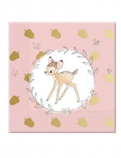 Bambi™-Papierservietten-Set 20 Stück bunt 33 x 33 cm