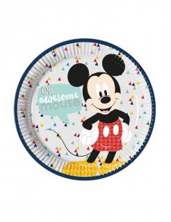 Tolle Micky Maus™-Pappteller für Kinder 8 Stück bunt 23 cm