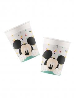 Mickey™-Pappbecherset 8 Stück bunt 260 ml