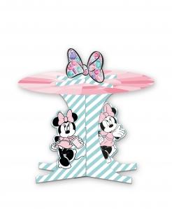 Cupcake-Präsentierteller Minnie Maus™ Etagere Partydeko rosa-türkis-schwarz 30x27cm