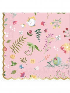 Disney™-Prinzessinnen Papierservietten-Set 20 Stück bunt 33 x 33 cm