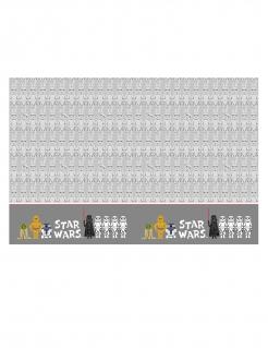 Star Wars™-Tischedecke aus Kunststoff Tischdekoration grau-weiss 120x180cm