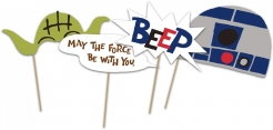 Star Wars™ Foto-Accessoires Partyzubehör 6-teilig bunt