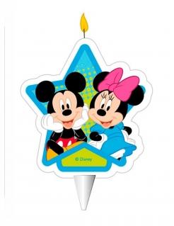 Disney™ Sternenkerze Micky und Minnie bunt 7,5 cm