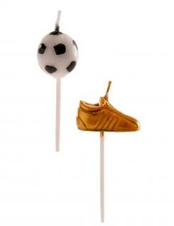 Fußball Geburtstagkerzen-Set 6-teilig bunt 3-5 cm