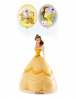Belle™-Dekoset Disney™ Kuchendeko 3-teilig gelb