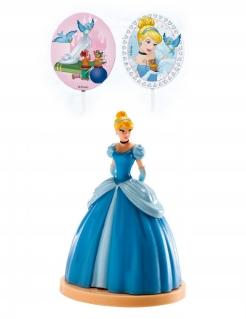Cinderella™-Dekoset 3-teilig blau-bunt 8,5cm