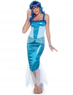 Meerjungfrauen-Kostüm für Damen blau