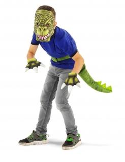 Dinosaurier-Accessoireset für Kinder 4-teilig Halloween grün