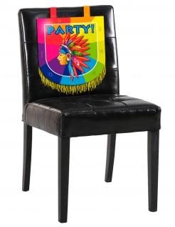 Indianer-Stuhl-Deko Kindergeburtstag-Deko bunt 38 x 34 cm