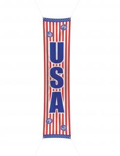 USA-Banner Partydeko blau-weiss-rot 300 x 60 cm