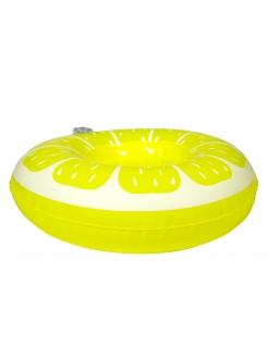 Aufblasbarer Getränkehalter Zitrone Partydeko gelb