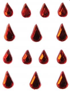 Blut-Schmucksteine Strasssteine rot 14 Stück
