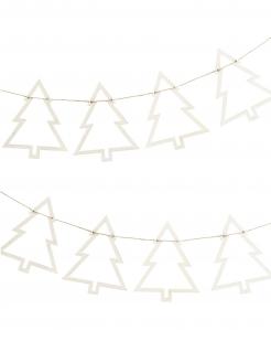 Weihnachtsbaum-Girlande Raumdekoration weiss 1,5 m