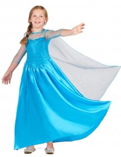 Schneekönigin-Kostüm für Mädchen blau