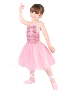 Ballerina-Kostüm für Kinder mit Pailletten Tänzerin rosa