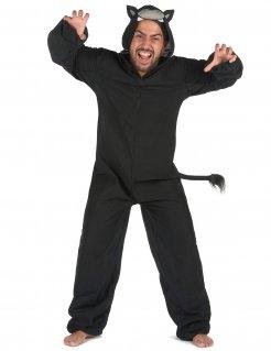 Panther-Kostüm für Herren Tierkostüm schwarz-grau