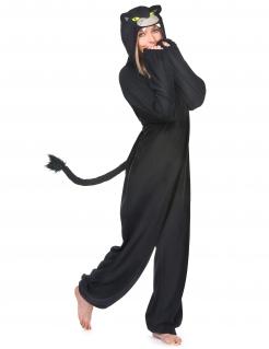 Panther-Kostüm für Damen Tierkostüm schwarz-grau
