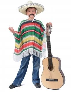 Mexikanischer Kinder-Poncho Kostümzubehör bunt