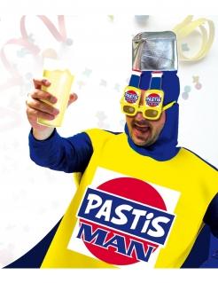 Scherzbrille Pastis Man gelb-blau