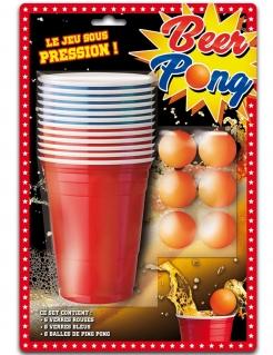 Bier-Pong-Set Partyanimation 18-teilig bunt