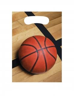 Basketball-Geschenktüten 8 Stück braun-orange-schwarz 23x16 cm