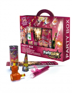 Partybox Partyanimation 36-teilig pink