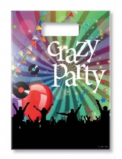 Geschenktüten Crazy Party 6 Stück bunt 18x30cm