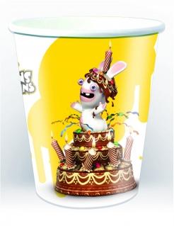 Die Rabbids™- Trinkbecher Tischdeko 6 Stück gelb 250ml