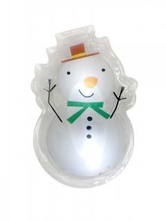 LED-Sticker Schneemann Weihnachts-Deko weiss-bunt 10x7cm