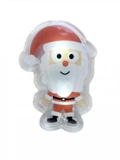 LED- Sticker Weihnachtsmann Dekoration rot-weiss-schwarz 10x7cm