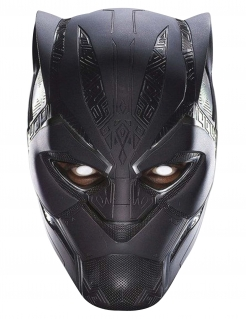 Black Panther™-Pappmaske Avengers Infinity War™ schwarz