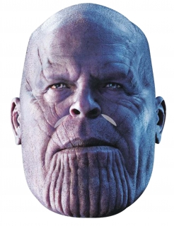 Hochwertige Thanos™-Maske für Erwachsene Avengers-Maske lila