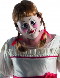 Annabelle™-Maske mit Perücke Halloween-Maske hautfarben-blond