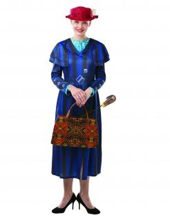 Mary Poppins™-Kostüm für Damen blau-rot