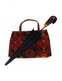 Mary Poppins™-Accessoires Tasche und Regenschirm rot-schwarz