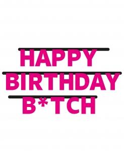 Girlande Happy Birthday Btch pink 3m