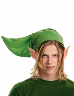 Link-Mütze und Ohren Legend of Zelda™-Kostümzubehör grün-hautfarben