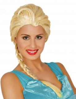Schneekönigin-Perücke für Damen Karneval-Perücke blond