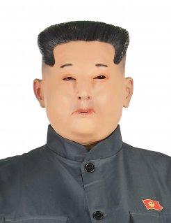 Fernöstlicher Diktator Halbmaske für Erwachsene hautfarben-schwarz
