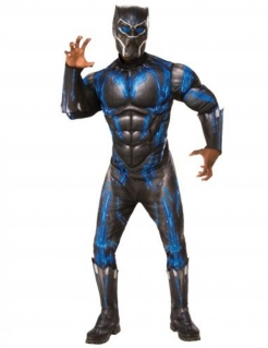 Black Panther™ Herrenkostüm schwarz-blau