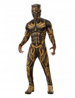 Killmonger™-Kostüm Marvels Black Panther™ Karnevalskostüm schwarz-gelb