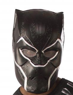 Black Panther™ Halbmaske für Erwachsene schwarz-weiss
