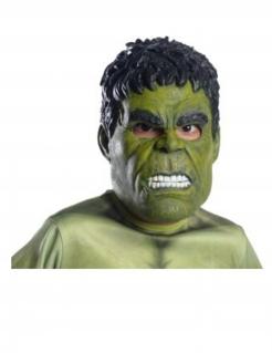 Hulk™ 3/4 Lizenzmaske für Erwachsene grün-schwarz