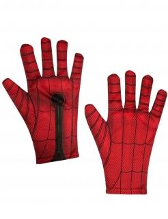 Spiderman™-Handschuhe für Kinder Kostüm-Accessoire rot-schwarz