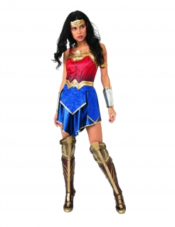 Wonder Woman™-Damenkostüm DC™ blau-rot-gold