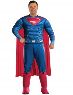 Superman™-Kostüm für Herren Übergröße Faschingskostüm blau-rot