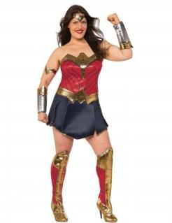 Wonder Woman™-Deluxekostüm für Damen Übergröße Faschingskostüm rot-blau-gold