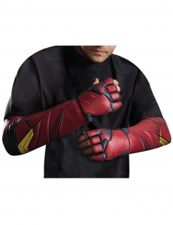 The Flash™-Handschuhe Justice League™ Kostüm-Accessoire rot-schwarz-gelb
